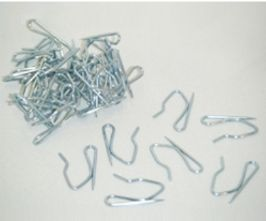 Pack of 25 Steel Pin Style Curtain Hooks in 2 colours